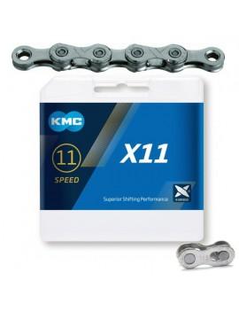 Łańcuch KMC X11 szary 118...
