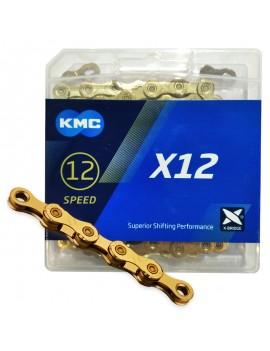 Łańcuch KMC X12 Ti-N Gold +...