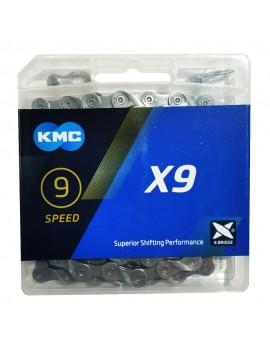 Łańcuch KMC X9 gray szary...