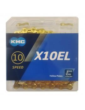 Łańcuch KMC X10EL Ti-N gold...